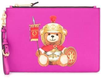 Moschino Teddy Bear logo clutch bag