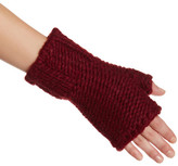 Portolano Bordeaux Cashmere Knit Fingerless Gloves