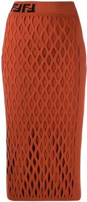 Fendi yarn mesh effect pencil skirt