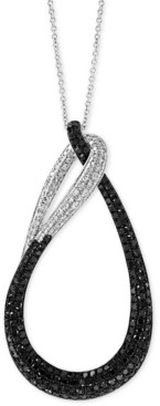 "Effy Diamond Loop 18"" Pendant Necklace (1 ct. t.w.) in 14k White Gold"
