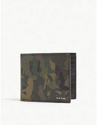 Paul Smith Naked lady camouflage print leather wallet