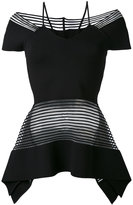 Roland Mouret 'Strawson' rolling stripe knit top - women - Polyamide/Polyester/Viscose - S