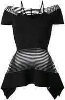 Roland Mouret 'Strawson' rolling stripe knit top