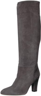 Sarah Jessica Parker Women's Rayna Almond Toe Knee High Boot Grey Suede 38.5 B EU (8 US)