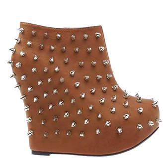 Privileged Women's Casual boots Cognac - Cognac Bunting Bootie - Women