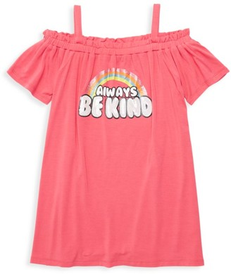 Design History Little Girl's & Girl's Be Kind Cold-Shoulder Dress