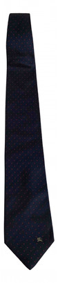 Burberry Navy Silk Ties