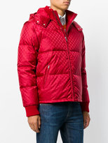 Gucci GG jacquard quilted padded jacket - men - Polyamide/Polyester/Virgin Wool - 48