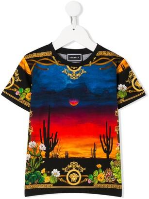 Versace desert print cotton T-shirt