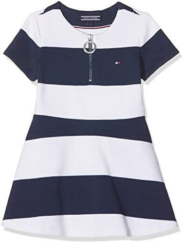 Tommy Hilfiger Baby Girls' AME Bright Stripe Knit S/s Dress