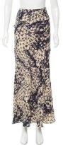 Gryphon Batik Print Silk Skirt