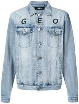 Geo Globe marble denim jacket