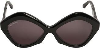 Balenciaga 0125s Power Hexagonal Cat-Eye Sunglasses