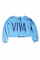 Rebel Yell Viva Crop Sweatshirt in Heather Royal