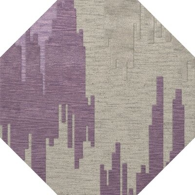 Orren Ellis Haslett Tufted Wool Thistle Gray Rug Rug Size Octagon 10 Shopstyle