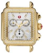 Michele Women's Deco Diamond Diamond Dial Gold Plated Watch Case, 33Mm X 35Mm
