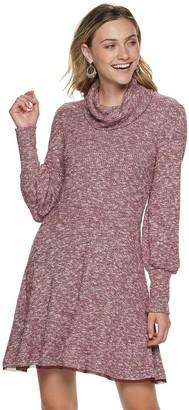 American Rag Juniors' Long Sleeve Deep Cowl Neck Dress