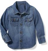 Old Navy Denim Pocket Shirt for Toddler