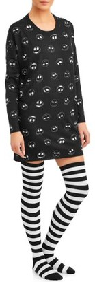 The Nightmare Before Christmas Nightmare Before Christmas Women's and Women's Plus Sleepshirt w/socks Pajama