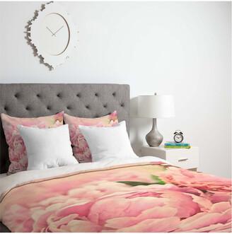 Deny Designs Lisa Argyropoulos Pink Peonies Duvet Set