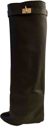 Givenchy Shark Black Leather Boots