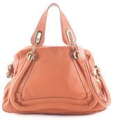 Chloé Coral Grainy Leather Medium Paraty Satchel Handbag MHL BP3999