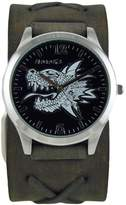 Nemesis Men's 933FXBK 3D Dragon Head Series Analog Display Japanese Quartz Watch
