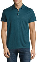 Majestic Linen-Silk Polo Shirt, Blue