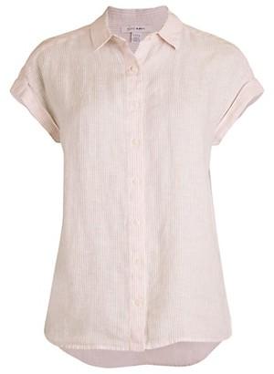 Pure Navy Striped Linen Shirt