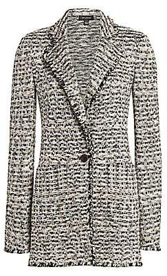 St. John Women's Space-Dyed Tweed Knit Jacket