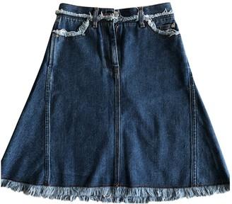 Acne Studios Blue Cotton Skirt for Women