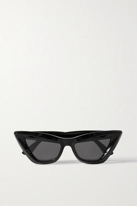Bottega Veneta Cat-eye Acetate Sunglasses - Black