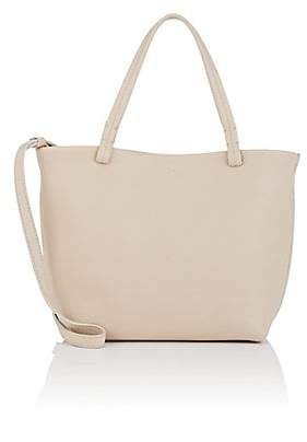 The Row Women's Park Small Leather Tote Bag - Eggshell