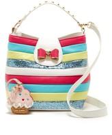Betsey Johnson Candy Striper Bucket Bag