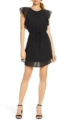 NSR Ruffled Dot Mini Dress