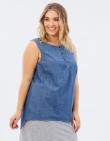 Junarose Denim Sleeveless Blouse