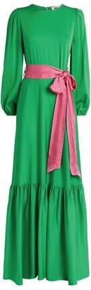 Dvf Diane Von Furstenberg Silk Amabel Maxi Dress