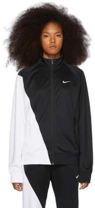 Nike Black and White Asymmetric Colorblocked Jacket