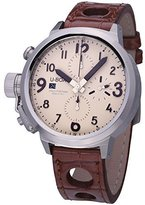 U-Boat Flightdeck Chronograph Beige Dial Leather Mens Watch 6251