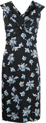 Diane von Furstenberg Floral Print Midi Dress