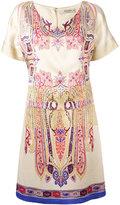 Etro abstract print T-shirt dress - women - Silk/Polyester/Spandex/Elastane/Viscose - 46