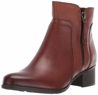 Naturalizer Womens Dorrit Cinnamon Waterproof Leather Booties 8 M