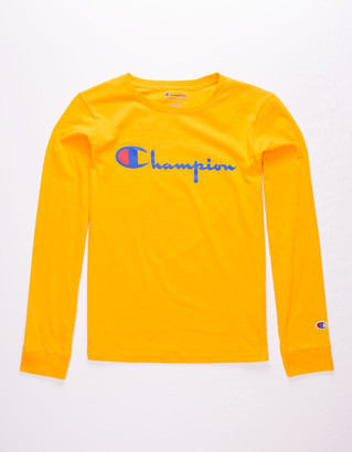 Champion Heritage Script Black Boys T-Shirt