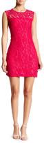 Adrianna Papell Scroll Lace Sheath Dress (Regular & Petite)