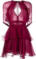 DSQUARED2 ruffle sheer dress