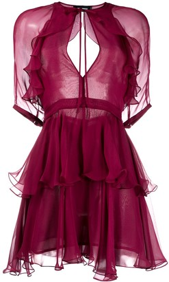 DSQUARED2 Ruffle Sheer Dress