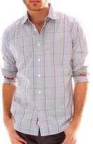 191 Unlimited Mens Grey Plaid Woven Shirt