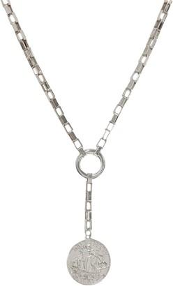 Ettika Large Coin Lariat Necklace