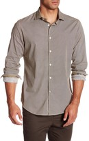 Ganesh Long Sleeve Grid Print Shirt