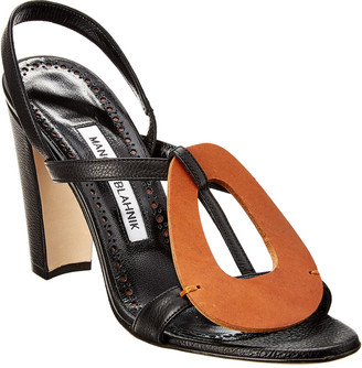 Manolo Blahnik Eudokia 105 Leather Sandal